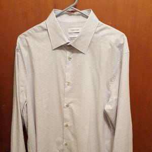 Calvin Klein Slim Fit Button Down Shirt SZ XL